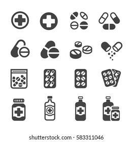 pill,drug and medicine icon