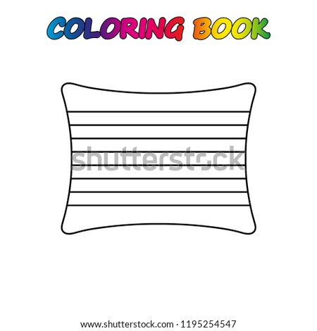 Pillow Coloring Page Worksheet Game Kids Stock Vector Royalty Free