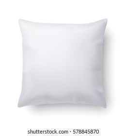 Pillow Isolated on White Background for Design