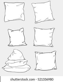 pillow set vector