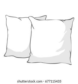 pillow vector, illustration
