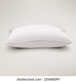 Pillow vector. Isolated cushion on white background.