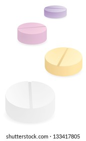 Pills addiction / Medicine color drugs