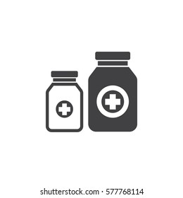 pills bottle icon. Health Care Vector illustration