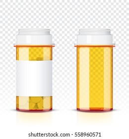 Pills bottle isolated on transparent background