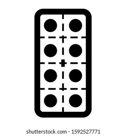 pills strip icon isolated sign symbol vector illustration - high quality black style vector icons