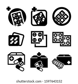 pills strip icon isolated sign symbol vector illustration - Collection of high quality black style vector icons
