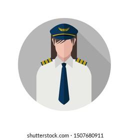 pilot icon captain avatar flight