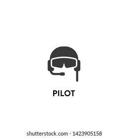 pilot icon vector. pilot vector graphic illustration