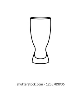 Pilsner glass (weizen) vector icon in outline/line style