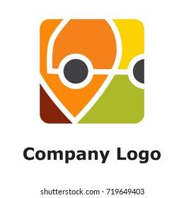 Pin with auto logo concept