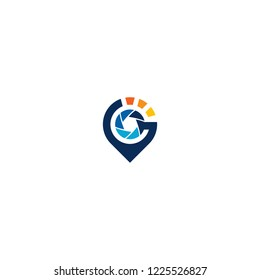 pin camera logo template download graphic abstrack