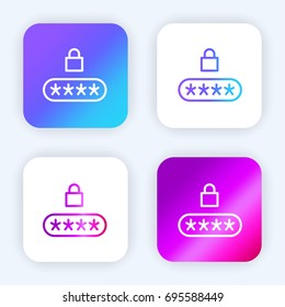 Pin code bright purple and blue gradient app icon