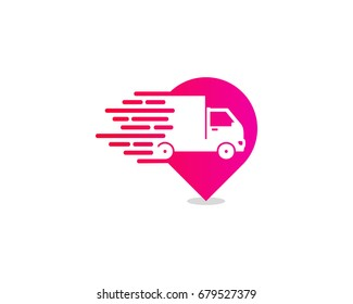 Pin Delivery Icon Logo Design Element