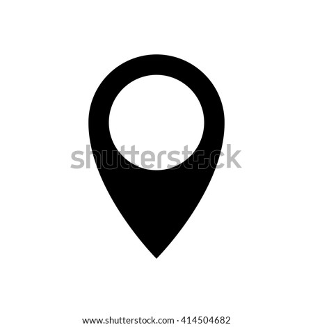 Pin Drop Icon Geolocation Sign Symbol Stock Vector Royalty Free