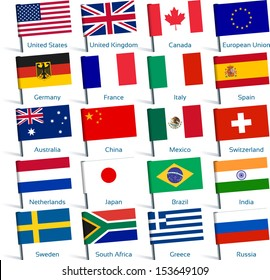 pin flags popular