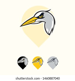 Pin Hummingbird Clipart Mascot Logo can be in vector to easilly change colors