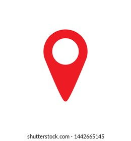 Pin icon. Location sign Isolated on white background. Navigation map, gps - vector