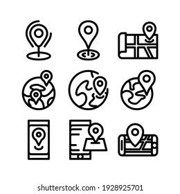 pin icon or logo isolated sign symbol vector illustration - Collection of high quality black style vector icons