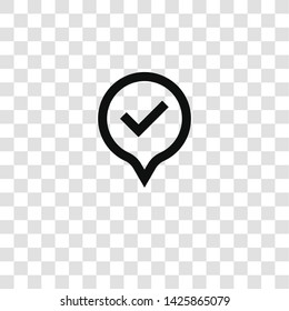 pin icon from miscellaneous collection for mobile concept and web apps icon. Transparent outline, thin line pin icon for website design and mobile, app development