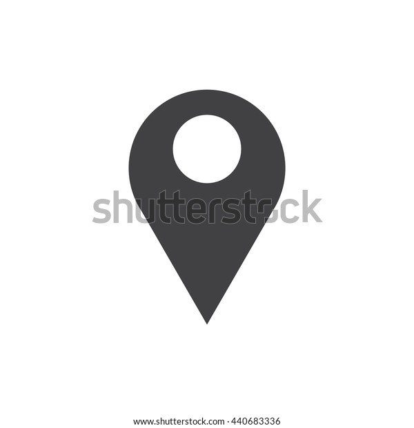 Pin icon, place