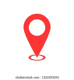 Pin icon vector. Location icon. Map pointer icon on white background