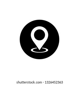 Pin icon vector. Location icon. Map pointer icon
