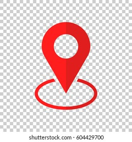 Pin icon vector. Location sign in flat style isolated on isolated background. Navigation map, gps concept.