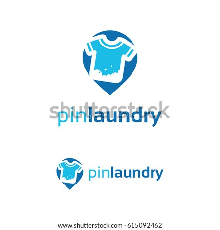 pin laundry logo template design stock vector royalty free