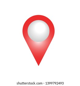 Pin Location Icon. Mark, Location, Place or Position Illustration As A Simple Vector, Trendy Sign & Symbol for Design and Websites, Presentation or Application.