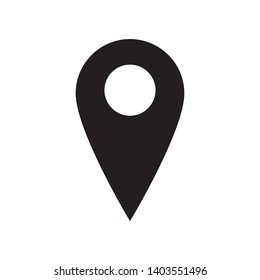 Pin location icon in trendy flat style design. Vector graphic illustration. Pin symbol for website design, logo, app, and ui. EPS 10.