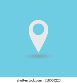 pin location icon vector