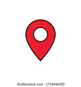 Pin location icon vector isolated on white background