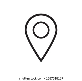 Pin location icon vector template