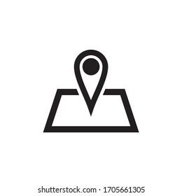 pin, location, map icon vector illustration