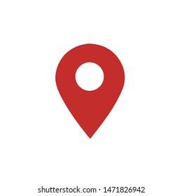 Pin Location Mark Sign Icon Vector Illustration.