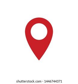 Pin Locator Icon Vector Simple Design