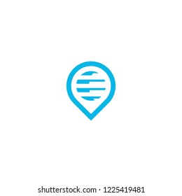 pin logo template download graphic abstrack
