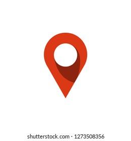 Pin map graphic icon design template illustration