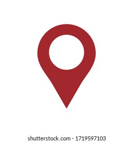 pin map icon vector illustration sign