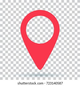 pin map navigation localization icon image. Pointer minimal vector symbol, marker sign