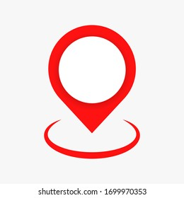 Pin map place location icon , Pin map symbol. red pin. vector illustration. EPS 10