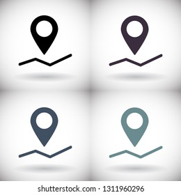 Pin map Vector icon