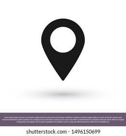 Pin map Vector icon . Lorem Ipsum Illustration design