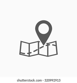 pin on the map icon