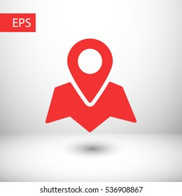 Pin on the map icon. One of set web icons