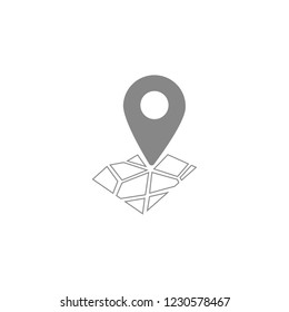 Pin on the map icon. Vector  Eps 10