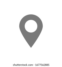 pin point icon. map location symbol isolated on white background. vector illustration
