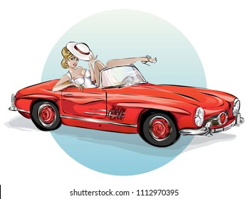Erotic automobile art