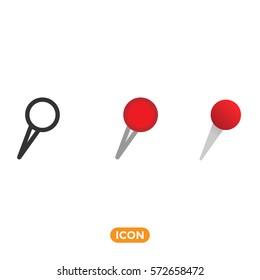 Pin Vector Icon